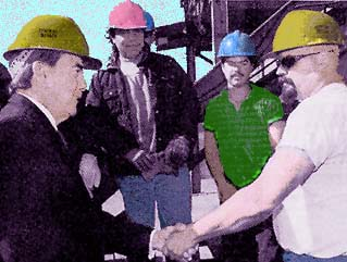 Dole meets with construction workers
